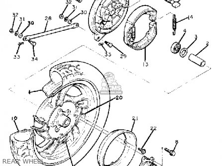 Yamaha Xj650 Maxim 1982 (c) Usa parts list partsmanual