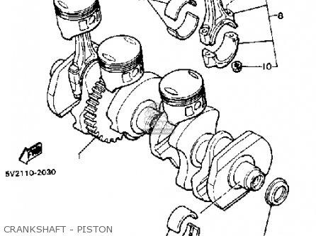 Yamaha Xj650 Maxim 1983 (d) Usa parts list partsmanual
