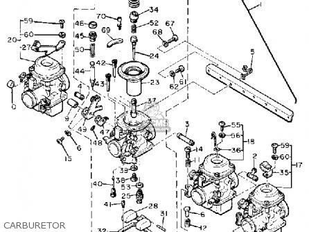 Yamaha Xj650g Maxim 1980 parts list partsmanual partsfiche