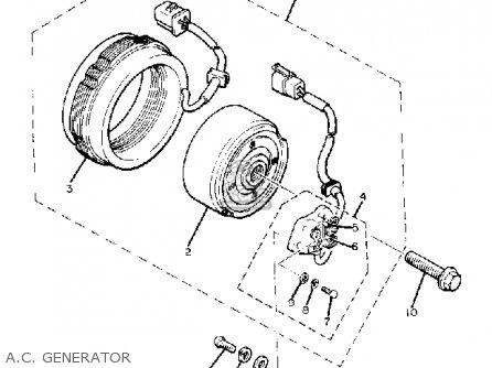 Yamaha Xj650j 1982 parts list partsmanual partsfiche