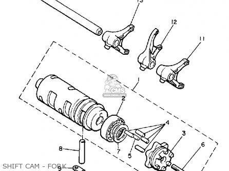 Yamaha Xj650l Maxim 1982 (c) Usa parts list partsmanual