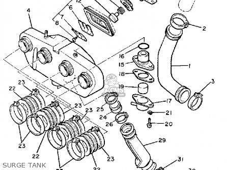 Yamaha Xj650l Maxim 1983 (d) Usa parts list partsmanual