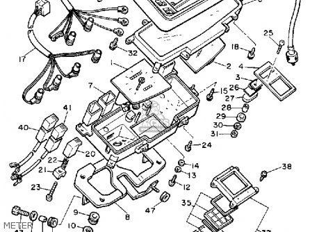 1983 Yamaha Xj750 Wiring Harness 1983 Yamaha XV750 Virago