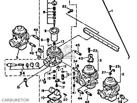 Yamaha Xj650lk 1983 parts list partsmanual partsfiche
