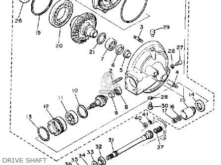Yamaha Xj650r Seca 1982 (c) Usa parts list partsmanual