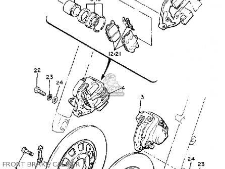 Yamaha XJ650R SECA 1982 (C) USA parts lists and schematics