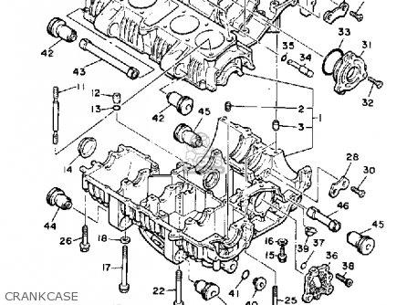 Yamaha XJ700 MAXIM 1986 (G) USA parts lists and schematics