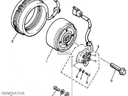 Yamaha Xj700 Maxim 1986 (g) Usa parts list partsmanual
