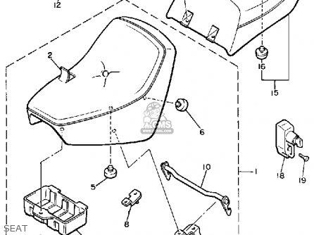 Yamaha Xj700c Maxim 1985 (f) California parts list