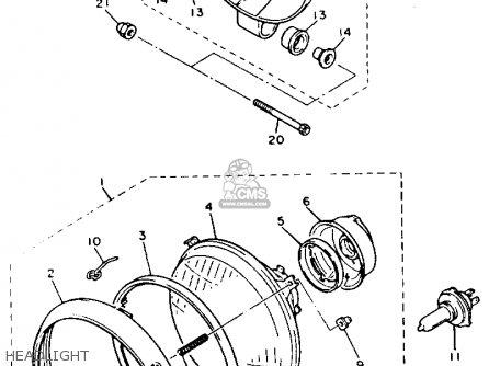 Yamaha XJ700X MAXIM 1985 (F) USA parts lists and schematics