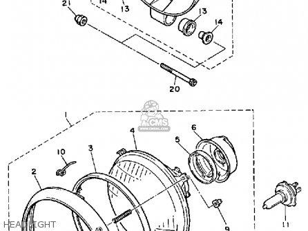 Yamaha XJ700X MAXIM 1986 (G) USA parts lists and schematics