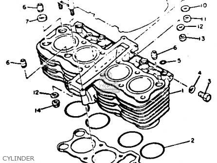 Yamaha XJ750 MAXIM 1982 (C) USA parts lists and schematics