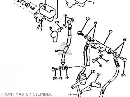 Yamaha Xj750 Maxim 1982 (c) Usa parts list partsmanual