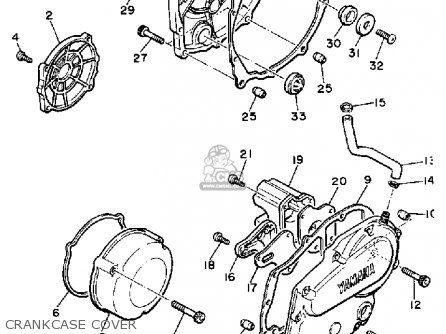 Yamaha Xj750 Maxim 1983 (d) Usa parts list partsmanual