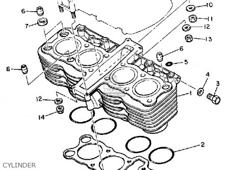 Yamaha XJ750 MAXIM 1983 (D) USA parts lists and schematics