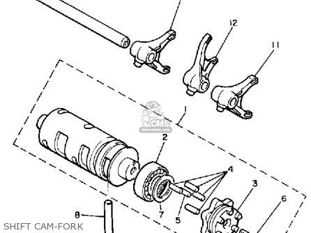 Yamaha Xj750 Maxim 1983 (d) Usa parts list partsmanual