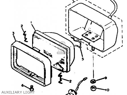 Yamaha Xj750j Maxim 1982 parts list partsmanual partsfiche