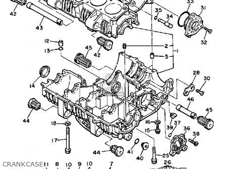 Yamaha Xj750k Maxim 1983 parts list partsmanual partsfiche