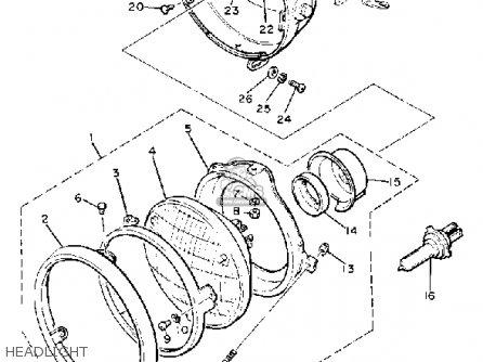 Yamaha Xj750mk Midnight Maxim 1983 parts list partsmanual