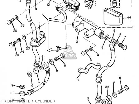 Yamaha Xj750r Seca 1982 (c) Usa parts list partsmanual