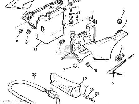 Yamaha Xj750rh Seca 1981 parts list partsmanual partsfiche