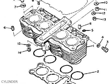 Yamaha Xj750rk Seca 1983 parts list partsmanual partsfiche