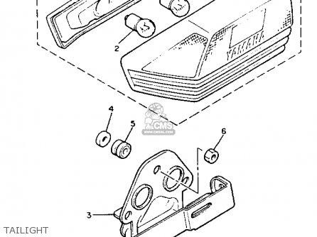 Yamaha Xj900r Seca 1983 (d) Usa parts list partsmanual