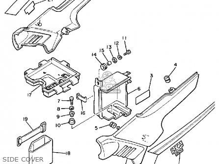 Yamaha Xj900rk 1983 parts list partsmanual partsfiche