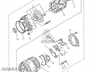 Yamaha Xjr1300 2000 5eab France 105ea-351f1 parts list