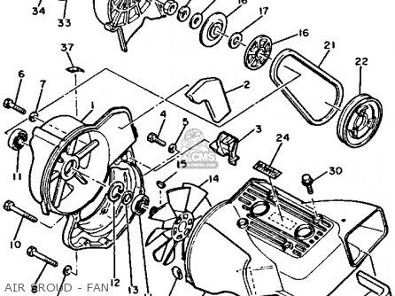 Yamaha XL540P 1990 parts lists and schematics