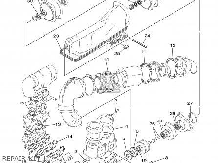 Yamaha Xl700-a 2002 parts list partsmanual partsfiche