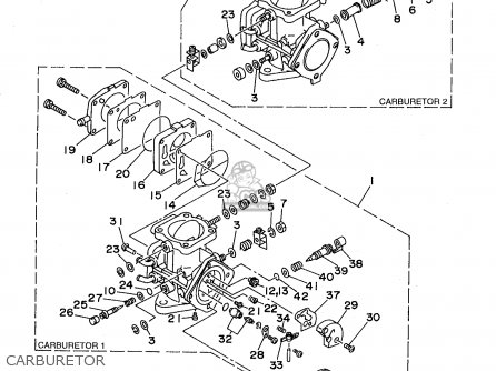 Yamaha XL760W 1998 parts lists and schematics