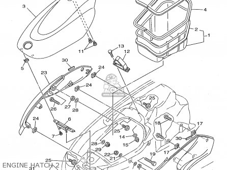 Yamaha XL760W 1998 parts lists and schematics