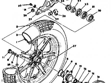 Yamaha Xs1100 1978 Usa parts list partsmanual partsfiche