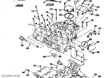 Yamaha Xs1100 1979 Usa parts list partsmanual partsfiche