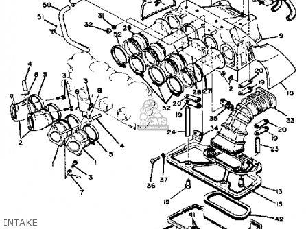 Yamaha Xs1100 1980 (a) Usa parts list partsmanual partsfiche