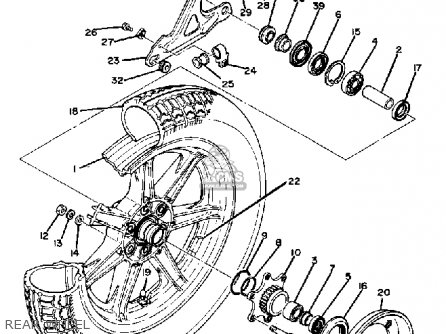 Yamaha Xs1100 1980 (a) Usa parts list partsmanual partsfiche