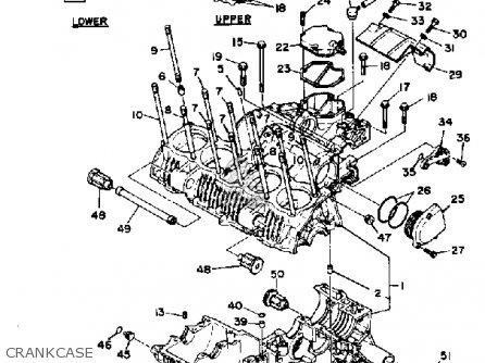 Yamaha Xs1100 1981 (b) Usa parts list partsmanual partsfiche
