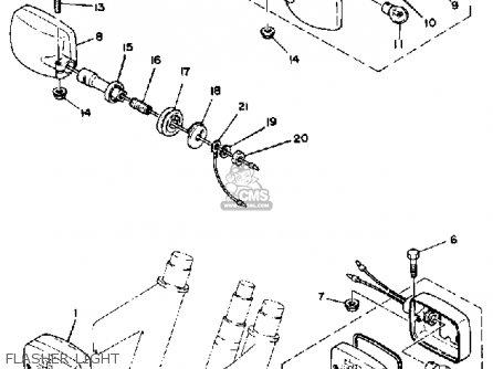 Yamaha Xs1100 H 1981 parts list partsmanual partsfiche