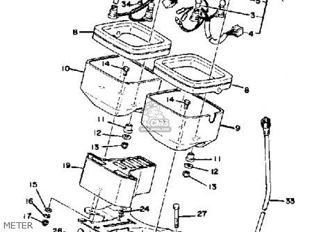 Yamaha Xs1100f 1979 parts list partsmanual partsfiche