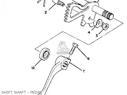 Yamaha Xs1100g 1980 parts list partsmanual partsfiche