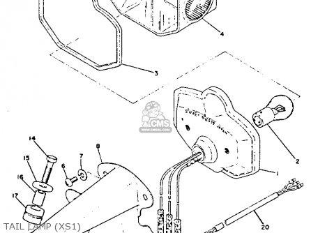 Yamaha Xs1b 1970-1973 parts list partsmanual partsfiche