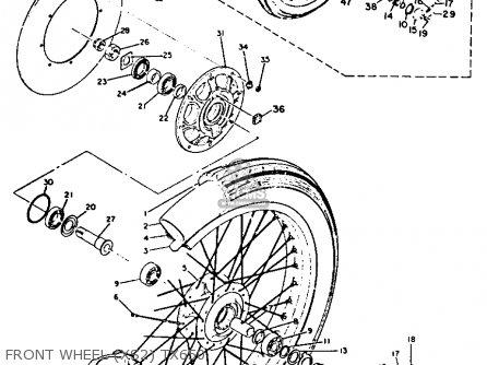 Yamaha Xs1b 1971 Usa parts list partsmanual partsfiche
