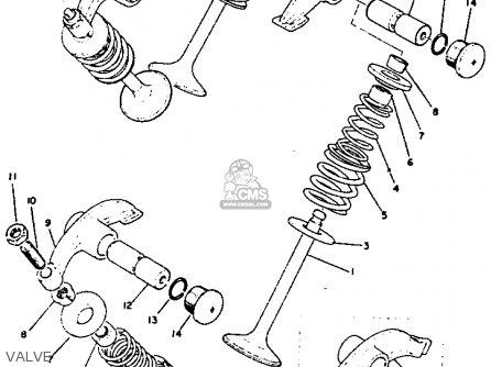 Yamaha XS1B 1971 USA parts lists and schematics