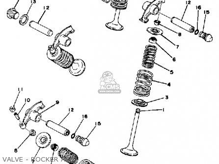 Yamaha Xs360 1976 Usa parts list partsmanual partsfiche