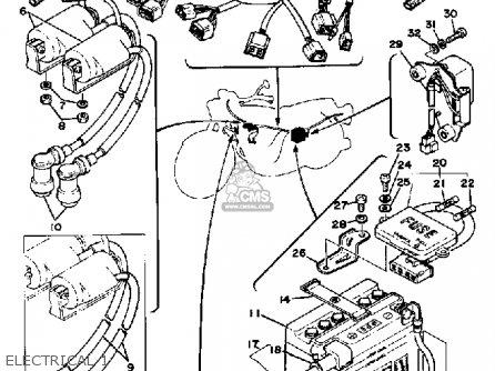 Yamaha Xs360 1977 Usa parts list partsmanual partsfiche