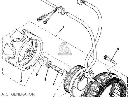 Yamaha XS360-2 1977 USA parts lists and schematics