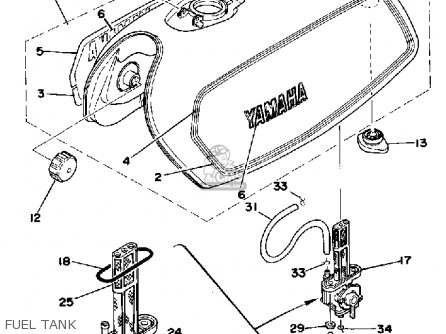 Yamaha XS360-2 1977 USA parts lists and schematics