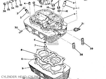Yamaha Xs400 1977 Usa parts list partsmanual partsfiche