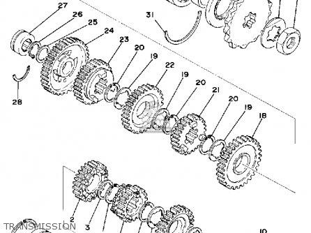 Yamaha XS400 1977 USA parts lists and schematics